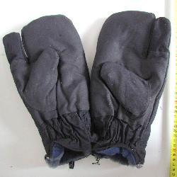 Russian winter mittens. Three fingers WW2 mittens. Model 1939