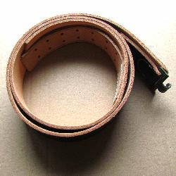 Wehrmacht black leather belt